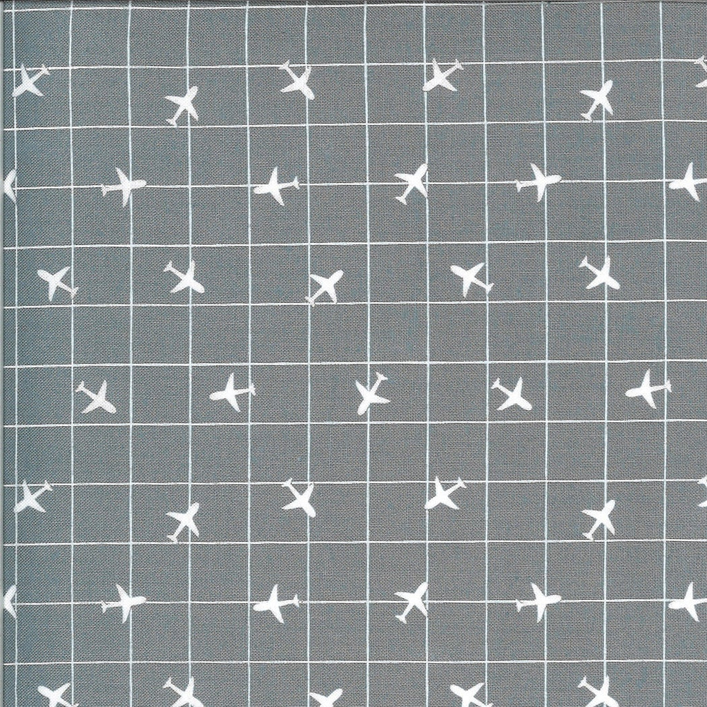 Gray Airplane Fabric | On the Go