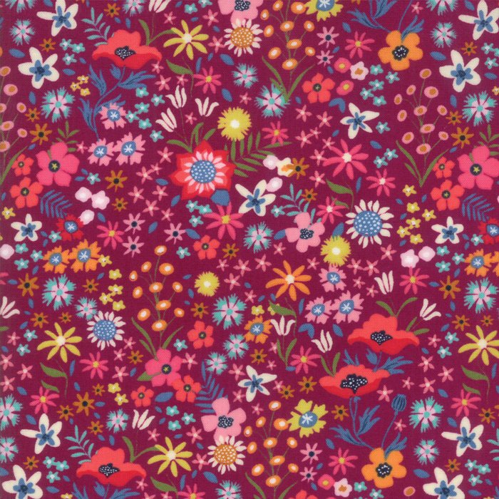 Purple Flower Patch Fabric
