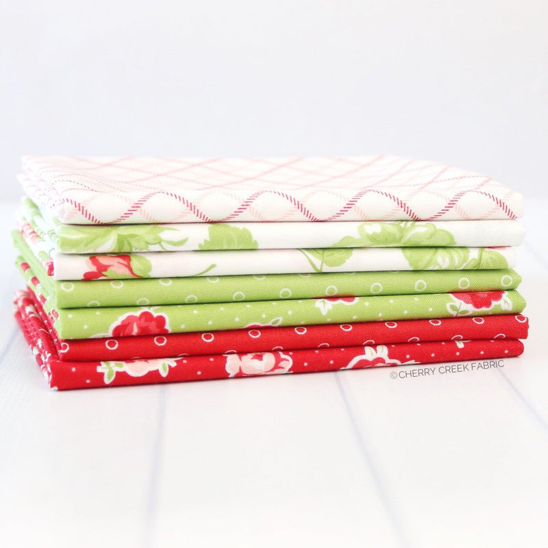 Smitten Red & Green Fat Quarter Bundle from Smitten Collection at Cherry Creek Fabric