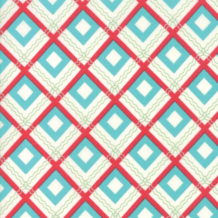 Sweet Christmas by Urban Chiks | Turquoise Christmas Plaid Fabric