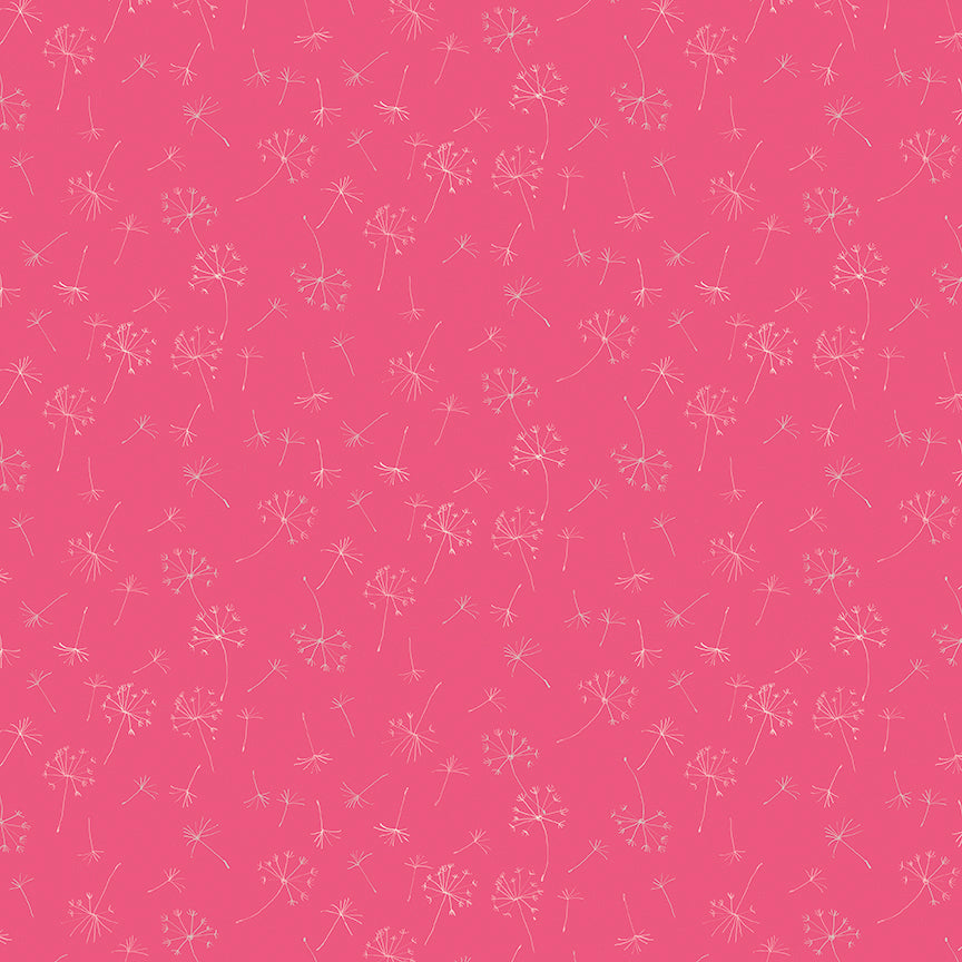 Pink Dandelions Fabric from Serendipity Collection at Cherry Creek Fabric