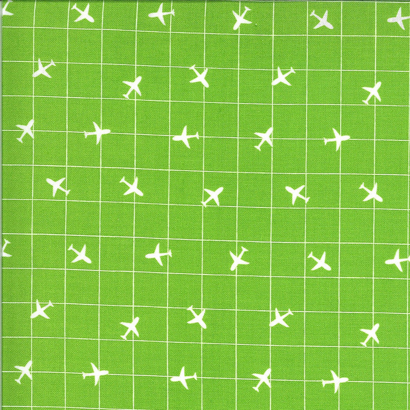 Green Airplane Fabric | On the Go