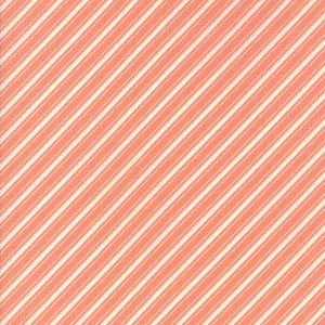 "Peach Ticking Stripe FabricEND OF BOLT 2 yds + 5"" from Ella & Ollie Collection at Cherry Creek Fabric"