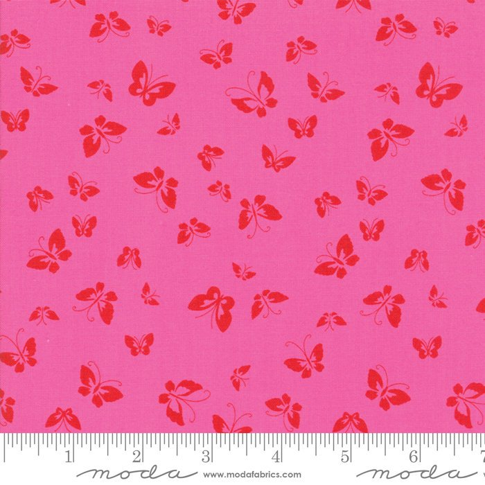Pink Butterflies Fabric from Lazy Days Collection at Cherry Creek Fabric