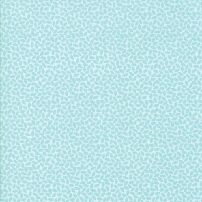 Orchard by April Rosenthal | Aqua Leaves Fabric