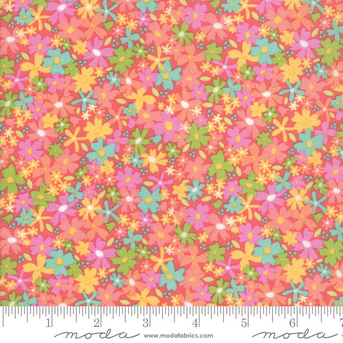 Pink Floral Charming Fabric from Sunnyside Up Collection at Cherry Creek Fabric