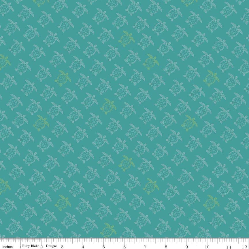Teal Turtle Fabric