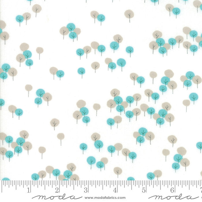 White Trees Fabric from Woodland Secrets Collection at Cherry Creek Fabric