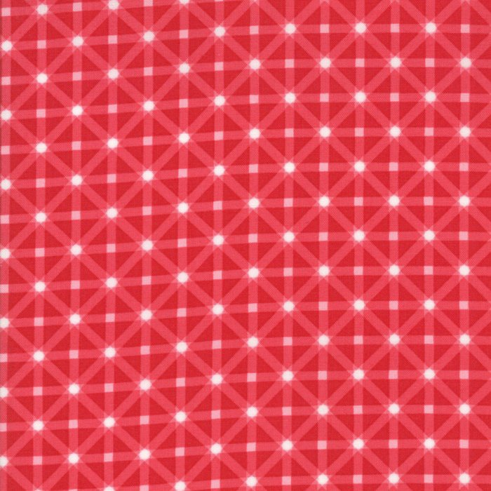 Berry Red Star Plaid Fabric from Good Tidings Collection at Cherry Creek Fabric