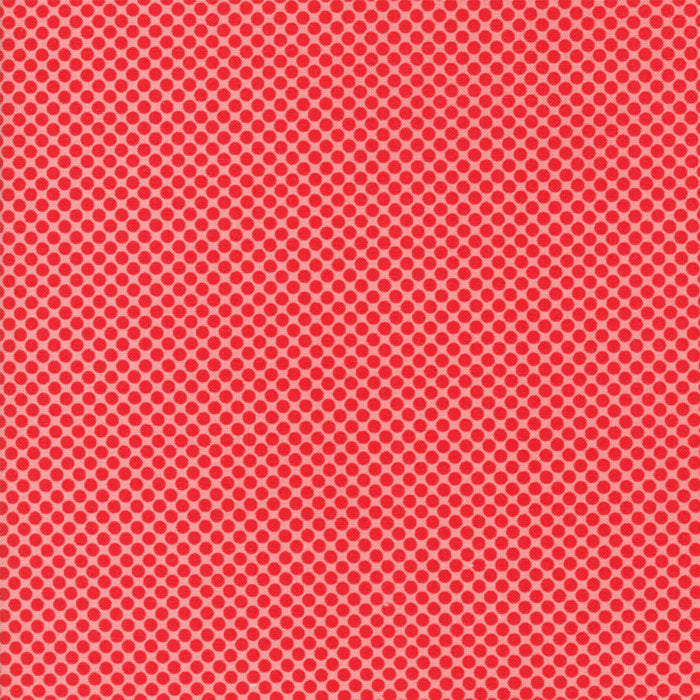 Red Pink Christmas Dot Fabric from Vintage Holiday Collection at Cherry Creek Fabric