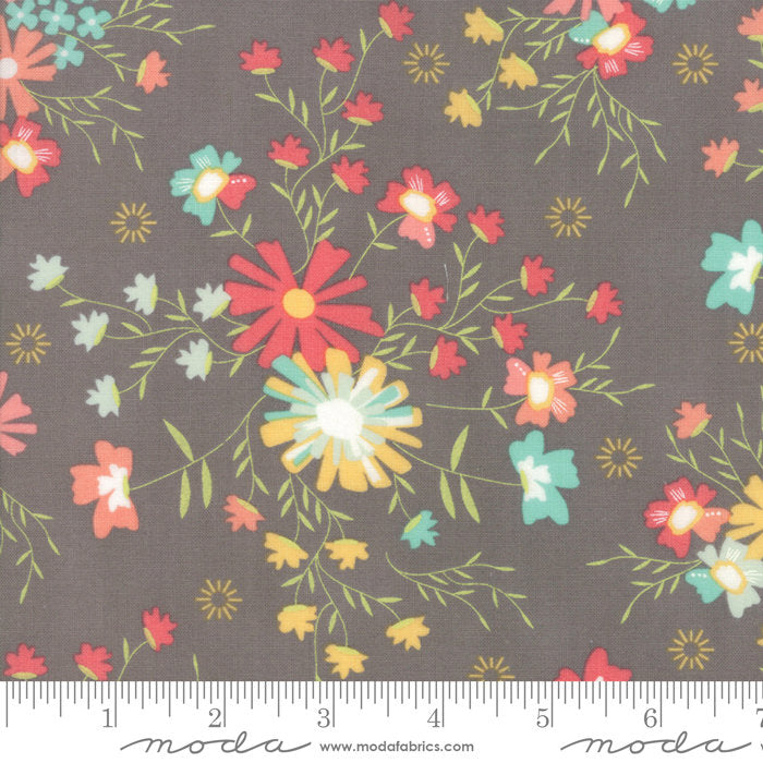 Grey Sugar Creek Floral Fabric from Sunnyside Up Collection at Cherry Creek Fabric