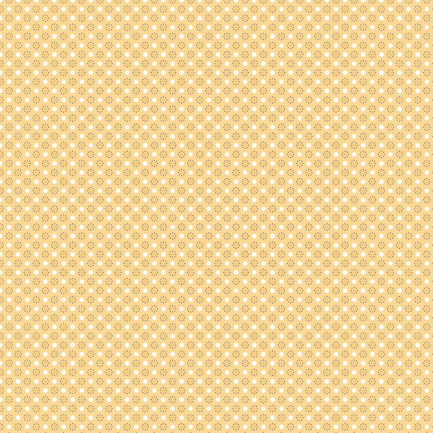 Yellow Polka Dots Fabric