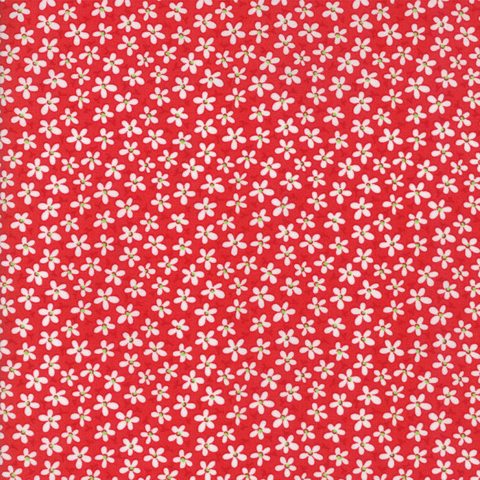 Red Mini Petals Fabric