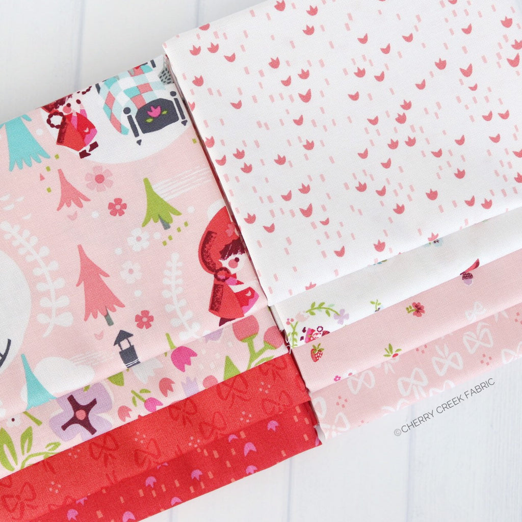 Little Red in the Woods Red/Pink Fat Quarter Bundle - 8 pieces