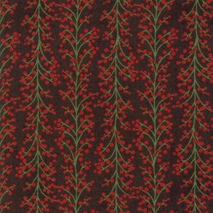 Black Holly Berries Fabric