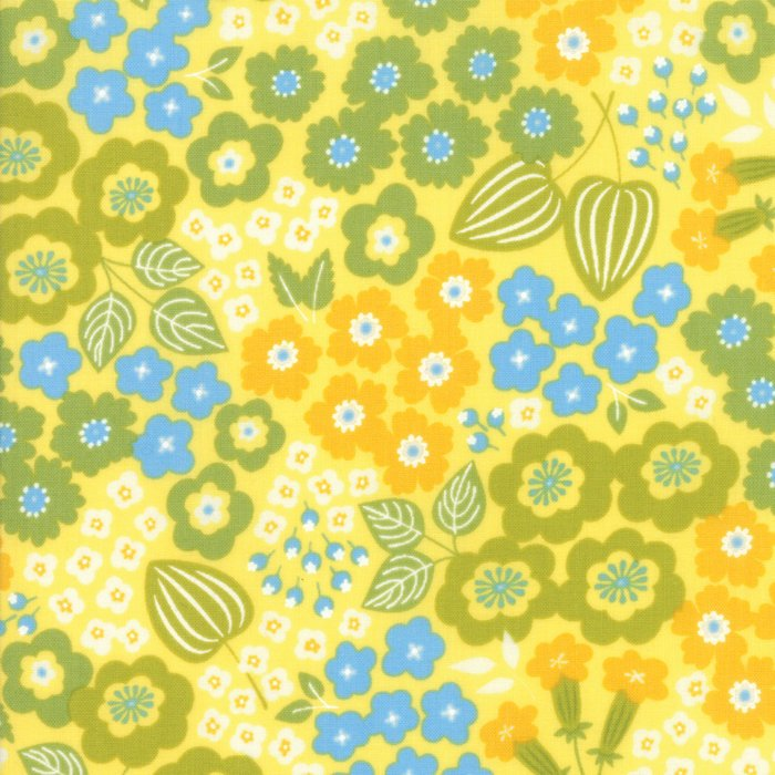 Yellow Floral Fabric from Lazy Days Collection at Cherry Creek Fabric