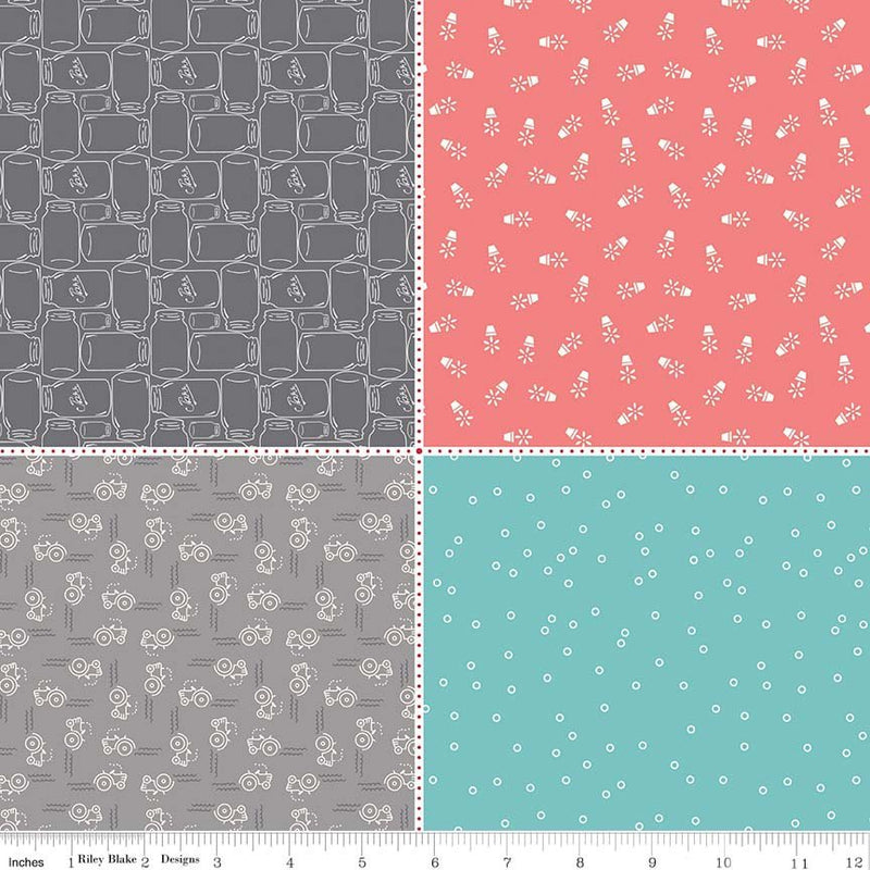 Farm Girl Vintage Fat Eighth Panel Two from Farm Girl Vintage Collection at Cherry Creek Fabric