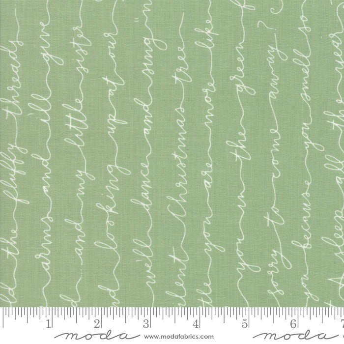 Little Tree by Lella Boutique | Green Christmas Poem Fabric
