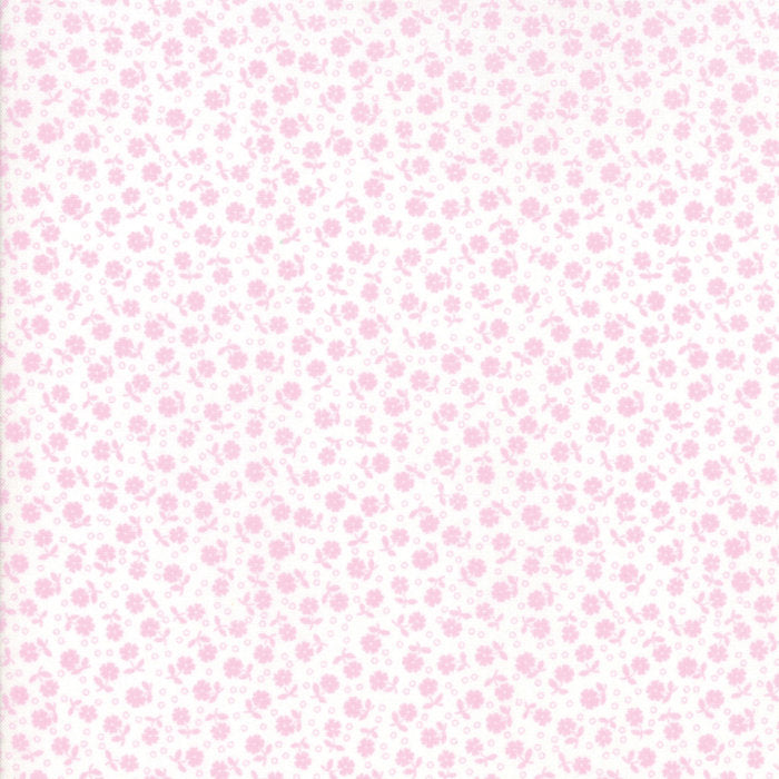 Pink Floral Dots Fabric