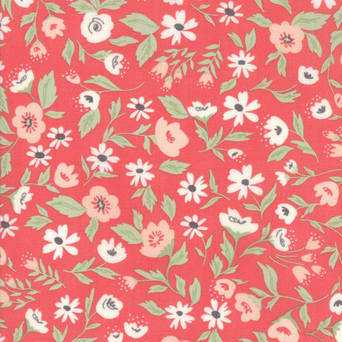 Pink Garden Bed Fabric from Garden Variety Collection at Cherry Creek Fabric