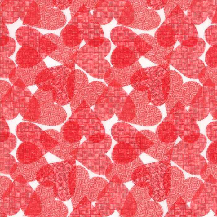 "White Hearts Fabric END OF BOLT 3 yds + 15"" from REDiculously Red Collection at Cherry Creek Fabric"