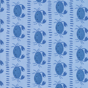 Dark Blue Crabs Fabric from Moda Fabrics Collection at Cherry Creek Fabric