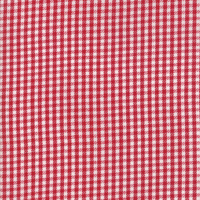 Red Twill Check Woven Fabric