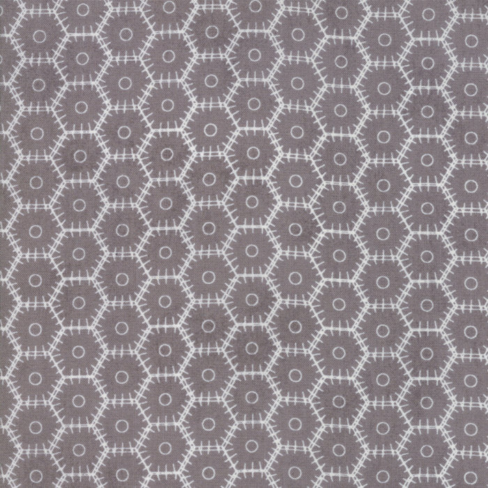 Grey Hex Dash Fabric