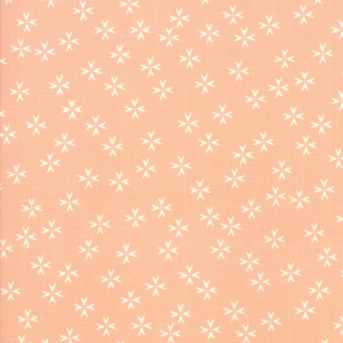 Peach Floral Petals Fabric from The Front Porch Collection at Cherry Creek Fabric