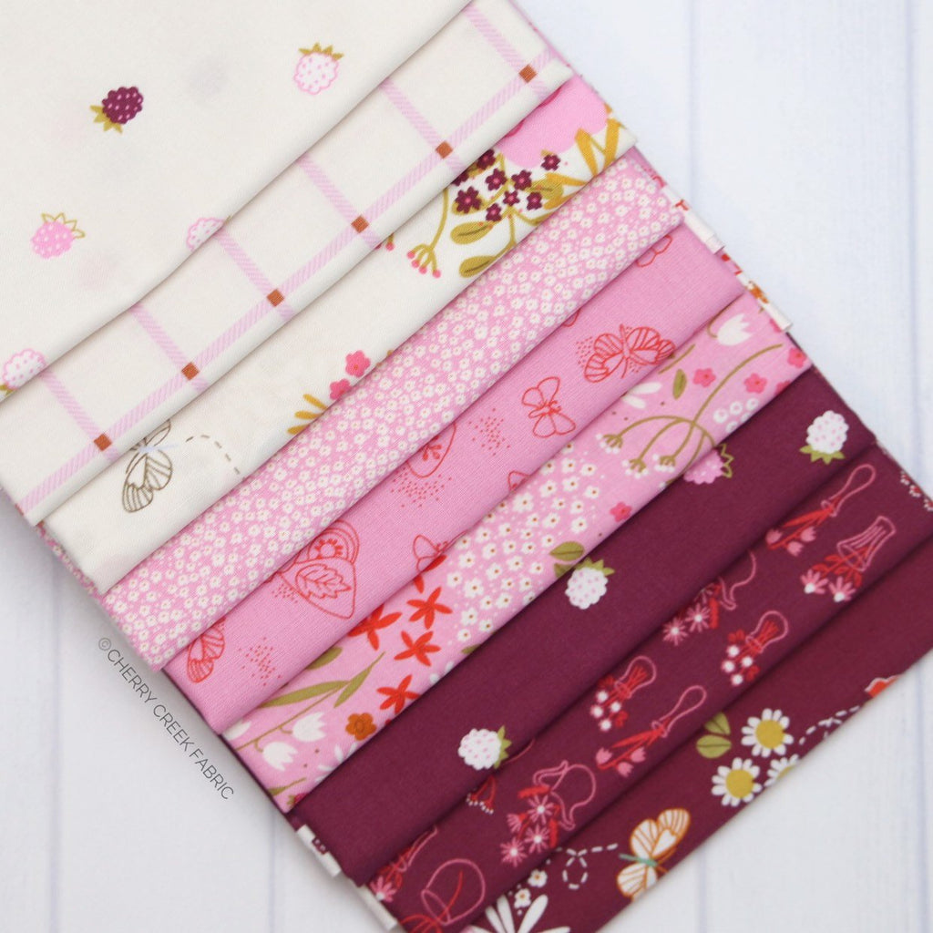 Wild Bouquet Burgundy & Pink Half Yard Bundle from Wild Bouquet Collection at Cherry Creek Fabric