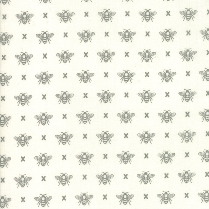 Cream Queen Bee Fabric