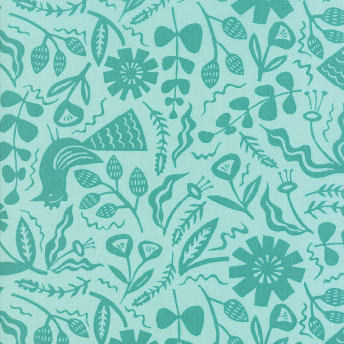 Aqua Jungle Fabric