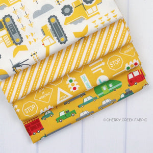 On the Go Yellow Fat Quarter - 4 pieces