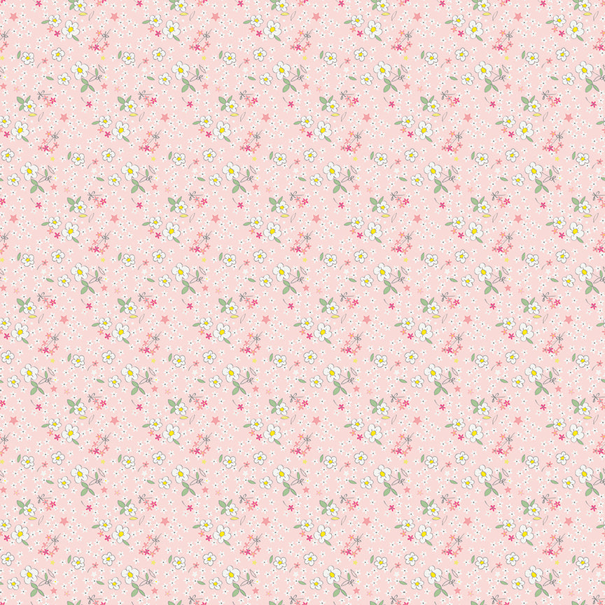 Pink Fleuri Fabric from Serendipity Collection at Cherry Creek Fabric