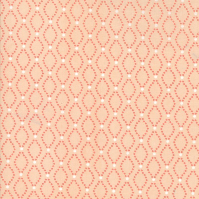 Peach Floral Seeds Fabric from Nest Collection at Cherry Creek Fabric