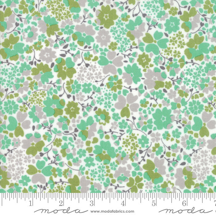 Strawberry Jam Fabric - Aqua Floral Meadow Fabric - Corey Yoder - Moda Fabric - Floral Fabric - Blue Fabric - Fabric by the Yard from Cherry Creek Fabric & Crafts Collection at Cherry Creek Fabric