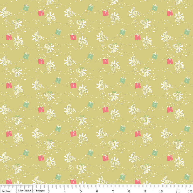 Green Winter Gift Fabric