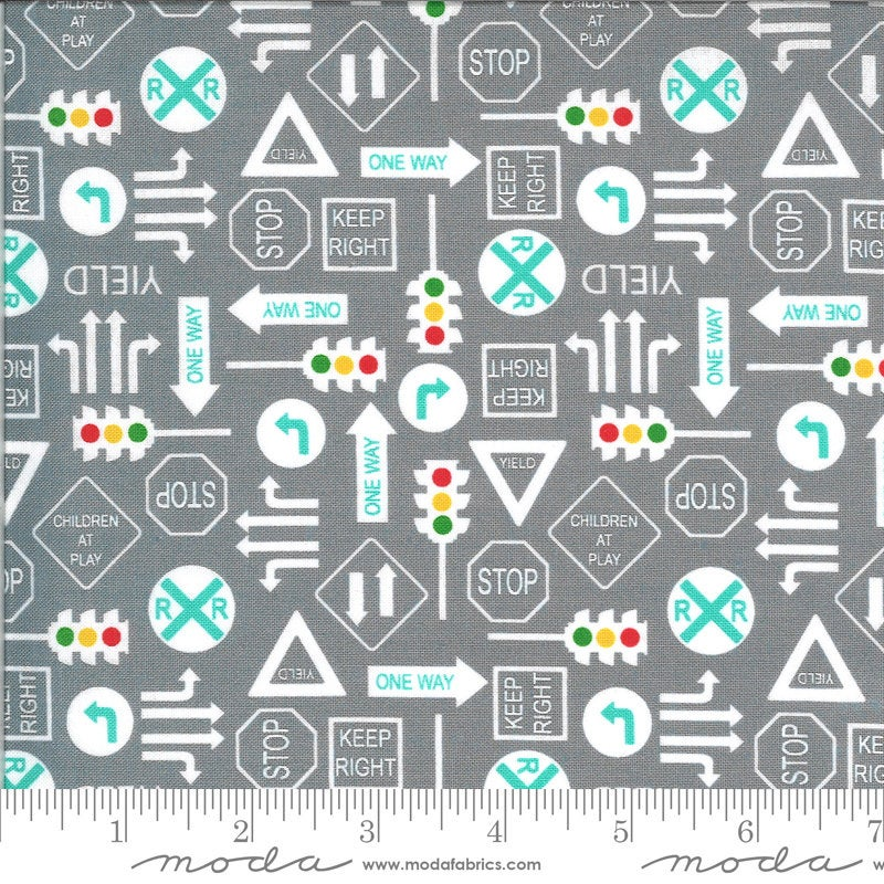 Gray It's a Sign Fabric | On the Go