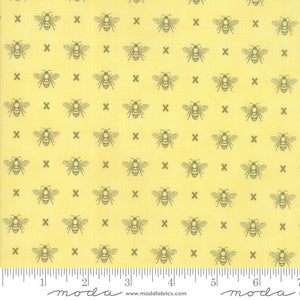 Yellow Queen Bee Fabric from Garden Variety Collection at Cherry Creek Fabric