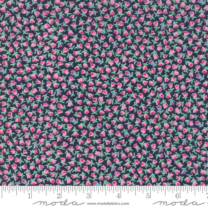 Navy Tulips Fabric from Guest Room Collection at Cherry Creek Fabric