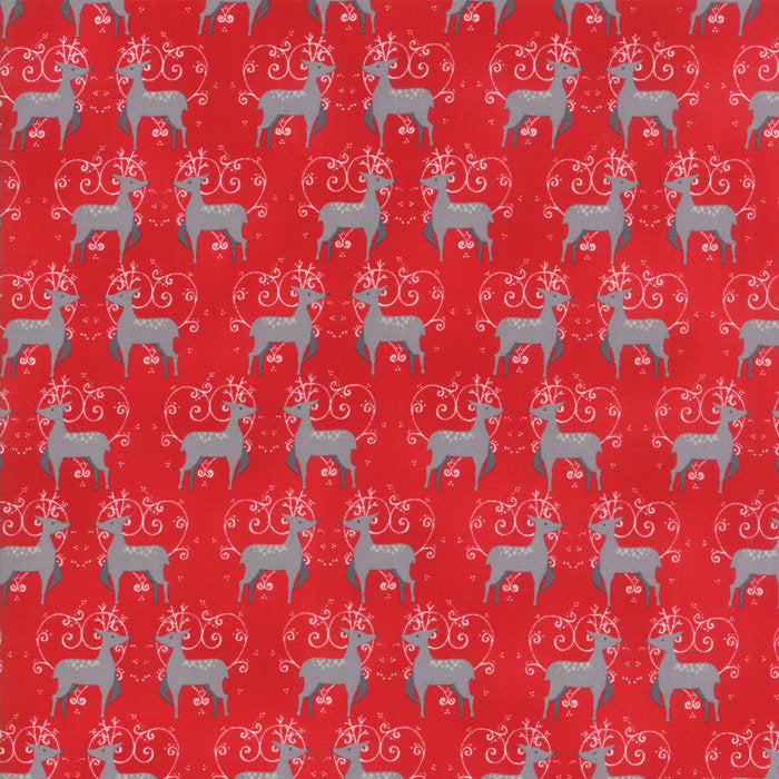 Red Oh Deer Fabric from Sno Collection at Cherry Creek Fabric