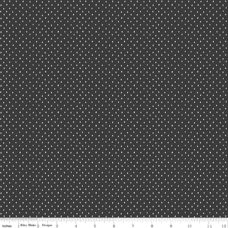 Black Diamonds Fabric