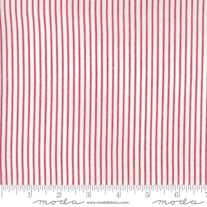 Red Stripe Woven Fabric from Oxford Collection at Cherry Creek Fabric