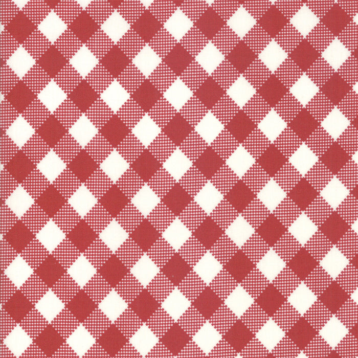 Merry Starts Here by Sweetwater | Black & Red Check Fabric