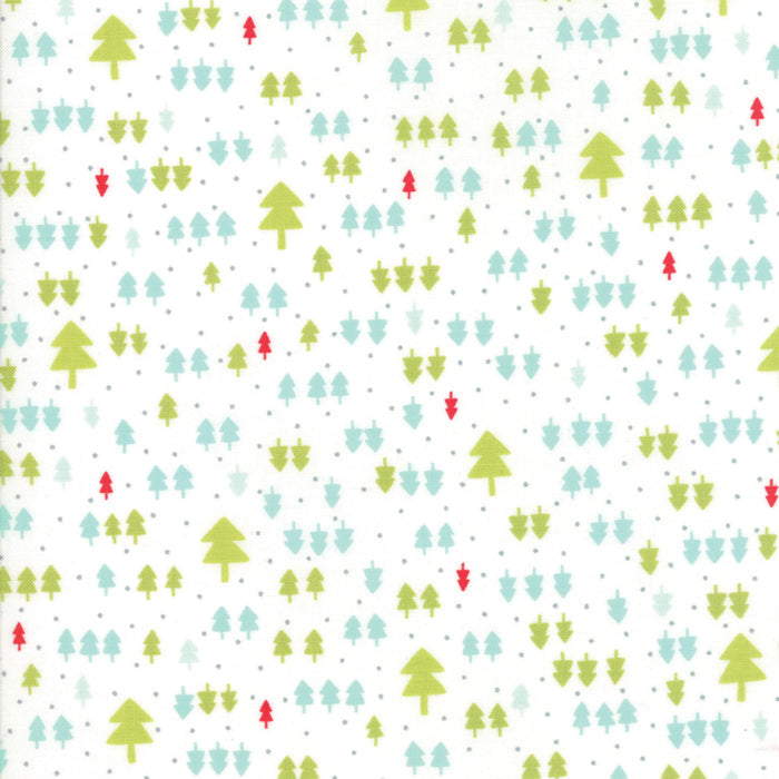 Ivory Christmas Trees Flannel Fabric from Vintage Holiday Flannel Collection at Cherry Creek Fabric