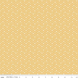 Yellow Heart Fabric