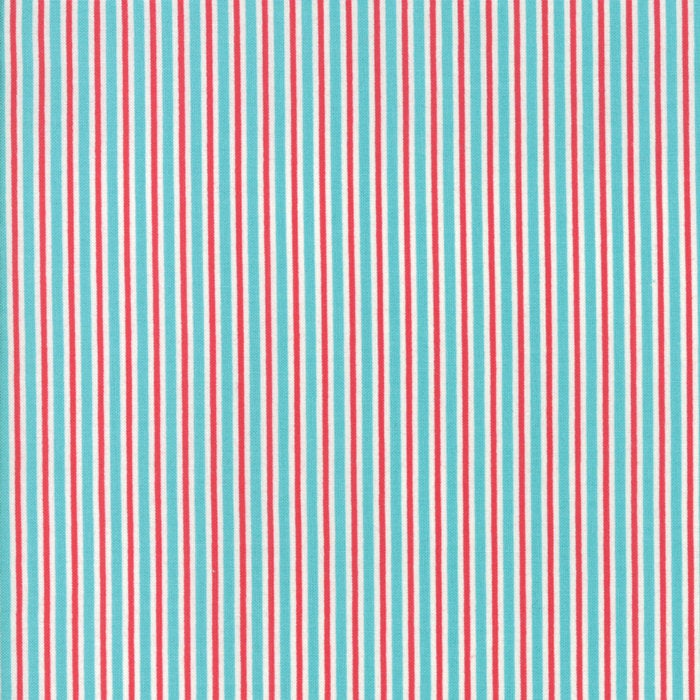 Sweet Christmas by Urban Chiks | Turquoise Candy Cane Stripe Fabric