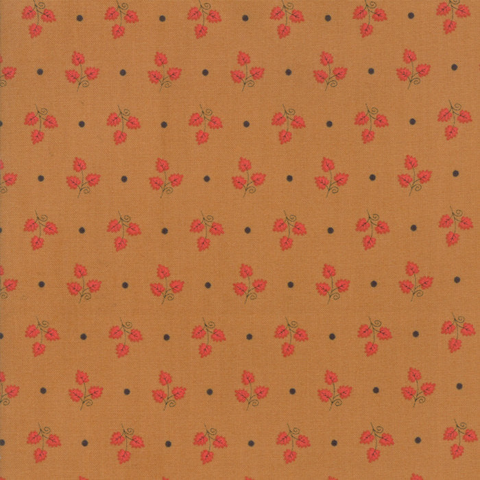 Gold Maple Leaves Fabric