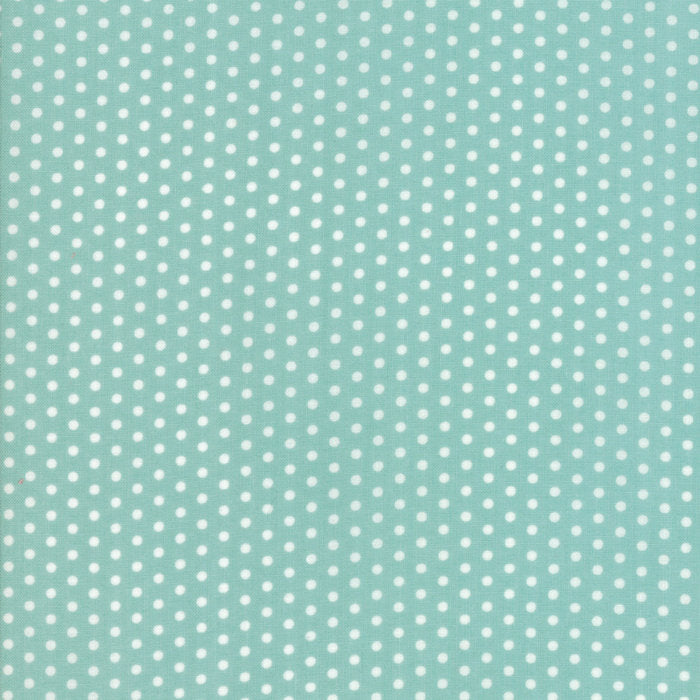 Aqua Polka Dots Fabric