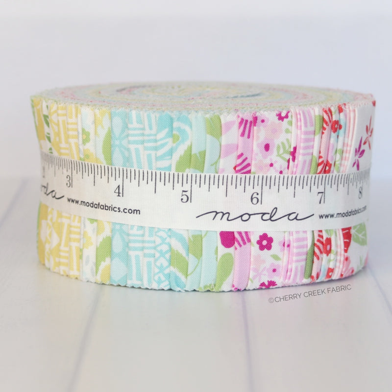 Bungalow Jelly Roll from Bungalow Collection at Cherry Creek Fabric